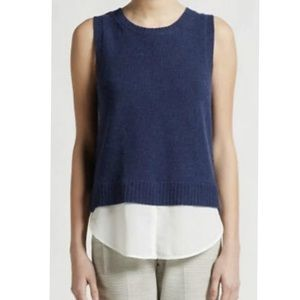 Brochu Walker layered wool cashmere sleeveless